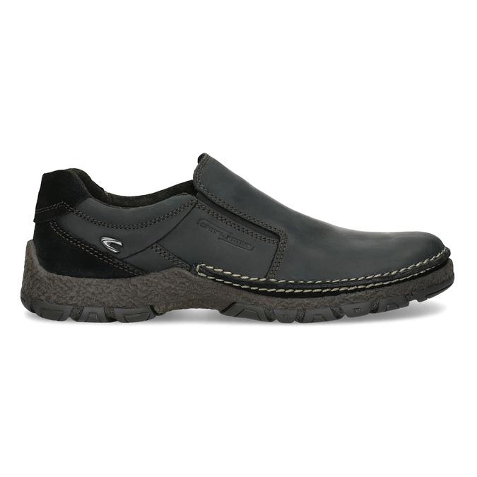 Kožená pánská Slip-on obuv s prošitím, černá, 816-6011 - 19