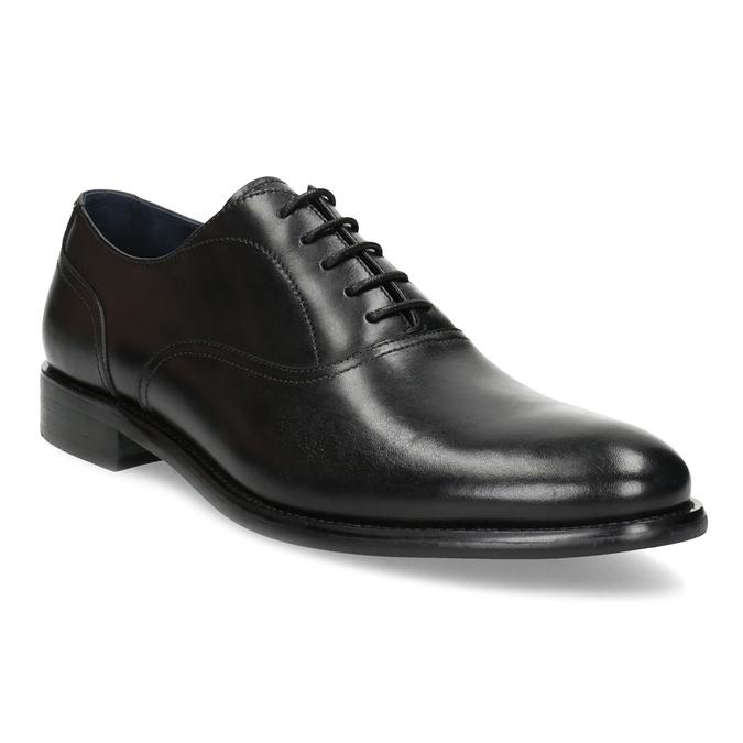 Pánské černé kožené Oxford polobotky bata, černá, 824-6615 - 13