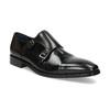 Pánské kožené Monk Shoes polobotky bata, černá, 824-6613 - 13