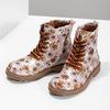 Dětská kotníčková obuv s květinovým vzorem mini-b, hnědá, 321-8620 - 16