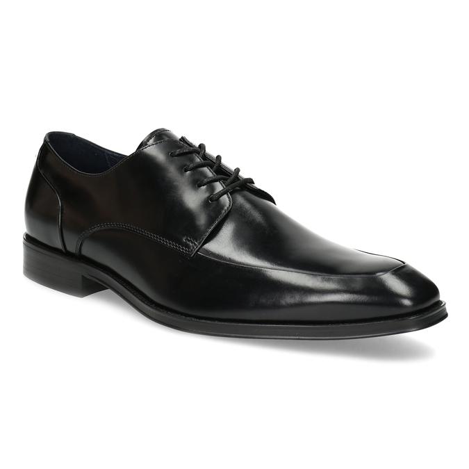 Černé kožené polobotky v Derby stylu bata, černá, 824-6784 - 13