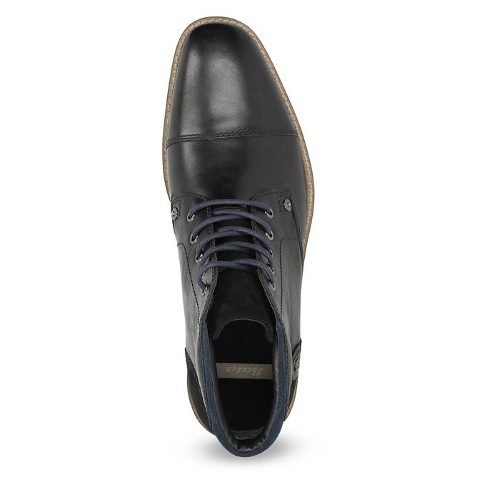 Kotníčková pánská kožená obuv bata, černá, 826-6611 - 17