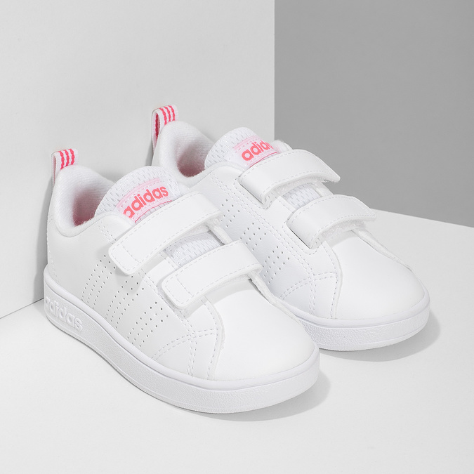 Bílé dětské tenisky s perforací na suché zipy adidas, bílá, 101-5133 - 26