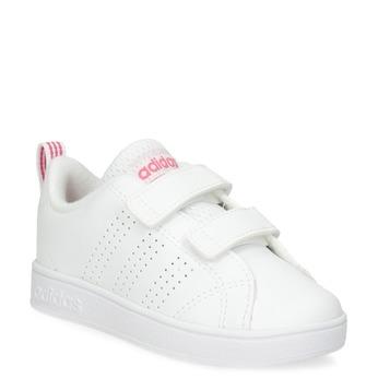 e0e4d602f1a Bílé dětské tenisky s perforací na suché zipy adidas