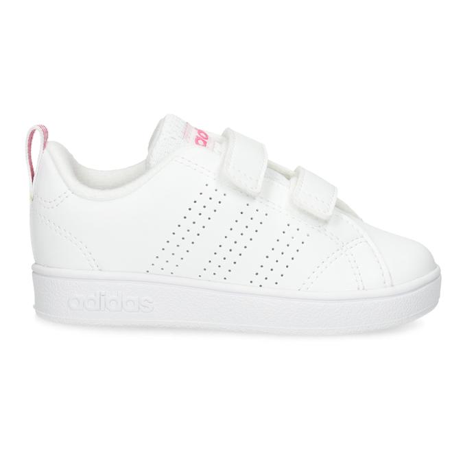 Bílé dětské tenisky s perforací na suché zipy adidas, bílá, 101-5133 - 19