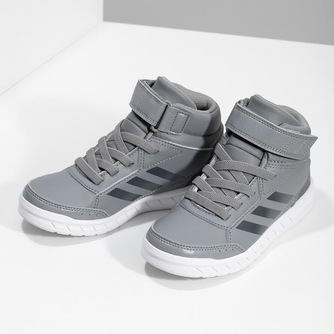 Dětské šedé kotníčkové tenisky adidas, šedá, 301-2220 - 16