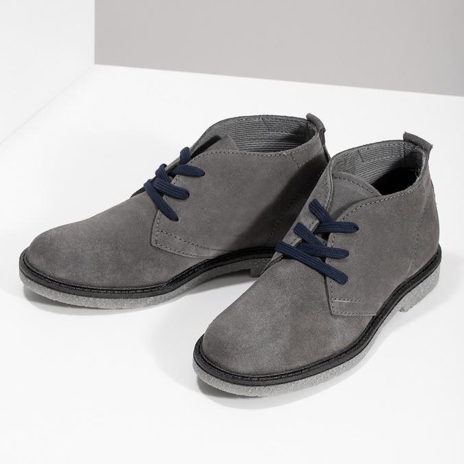 Kožená dětská kotníčková obuv mini-b, šedá, 313-2278 - 16
