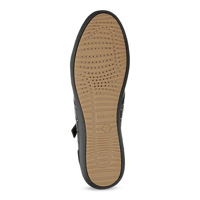 Geox Černé ležérní tenisky s kamínky a zlatým zipem - Ženy  2167199791