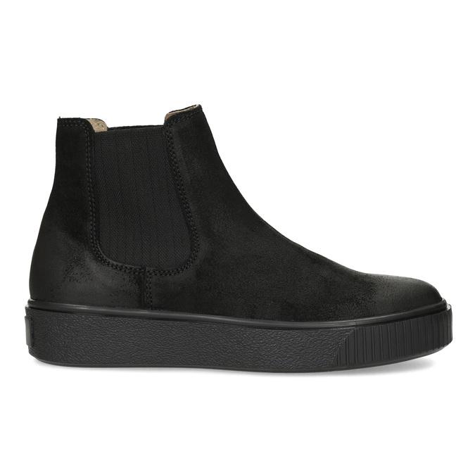Kotníčková kožená dámská Chelsea obuv bata, černá, 596-6713 - 19
