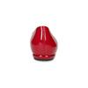 Červené kožené dámské baleríny s lakováním hogl, červená, 528-5066 - 15