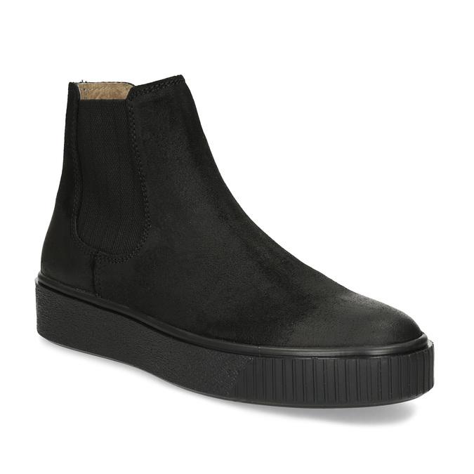 Kotníčková kožená dámská Chelsea obuv bata, černá, 596-6713 - 13