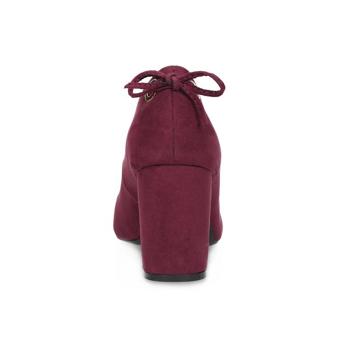 Vínové dámské lodičky s mašlí na patě insolia, červená, 729-5628 - 15