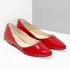 Červené kožené dámské baleríny s lakováním hogl, červená, 528-5066 - 26