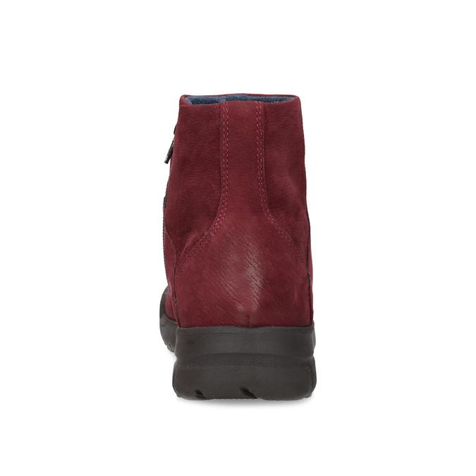 Červené kožené kotníčkové kozačky bata, červená, 596-5706 - 15