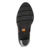 Dámské kožené polokozačky s vázáním flexible, černá, 794-6654 - 18