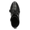 Dámské kožené polokozačky s vázáním flexible, černá, 794-6654 - 17