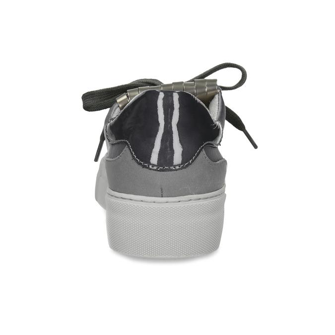 Šedé kožené tenisky s třásní marc-o-polo, šedá, 629-2099 - 15