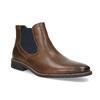 Pánská kožená obuv ve stylu Chelsea bata, hnědá, 826-3865 - 13