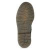 Dětská kožená kotníčková obuv se vzorem mini-b, černá, 426-2560 - 18
