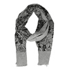 Šátek se vzorem růží černá bata, šedá, 909-2701 - 26