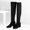 Černé kozačky na stabilním podpatku bata, černá, 793-6614 - 16