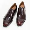 Kožené pánské lakované Oxford polobotky bata, červená, 828-5608 - 16