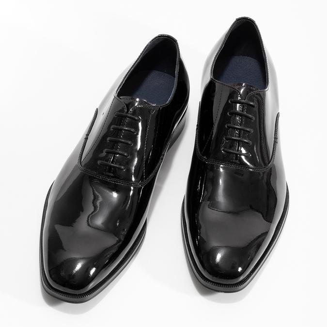 Pánské lakované kožené Oxford polobotky bata, černá, 828-6608 - 16