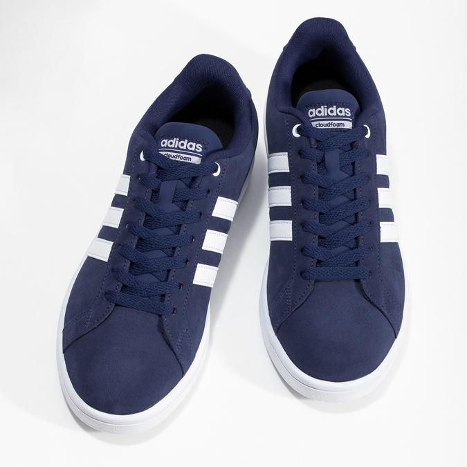 Pánské tenisky z broušené kůže modré adidas, modrá, 803-9120 - 16