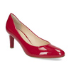 Kožené lakované červené lodičky hogl, červená, 728-6091 - 13