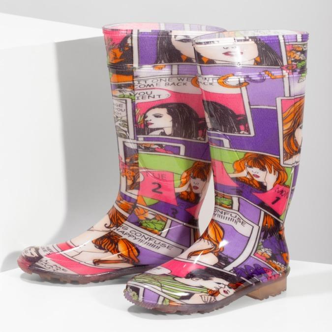 Dámské holínky komixové bata, vícebarevné, 592-0606 - 16