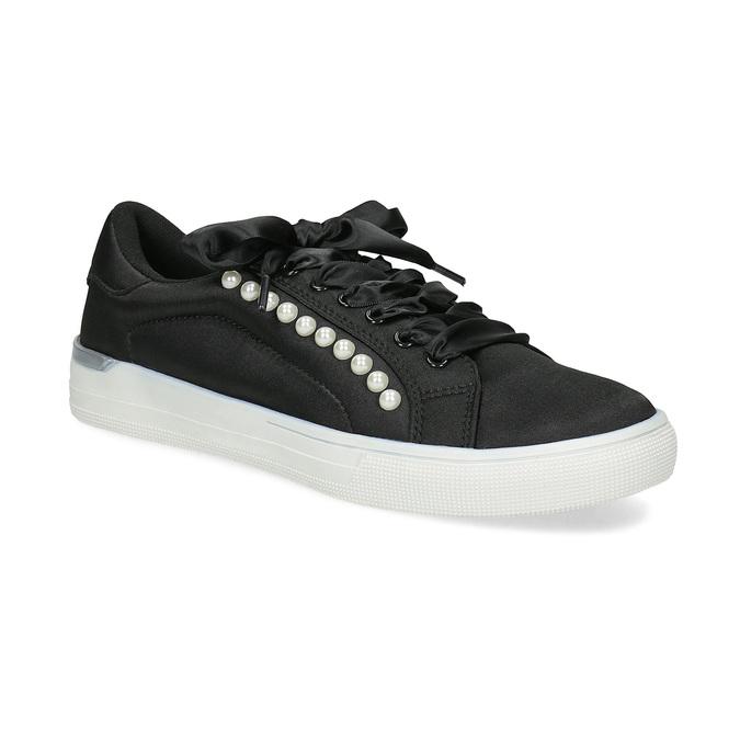 4d2786bb081 North Star Černé dámské tenisky s perličkami - Městský styl