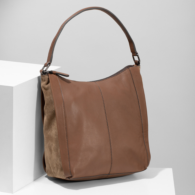 Hnědá kožená kabelka bata, hnědá, 964-3254 - 17