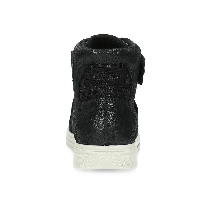 Kožené černé dětské kotníčkové tenisky mini-b, černá, 323-6603 - 15