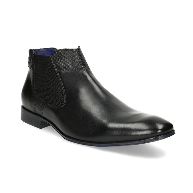 Černá kožená kotníčková obuv bugatti, černá, 814-6013 - 13