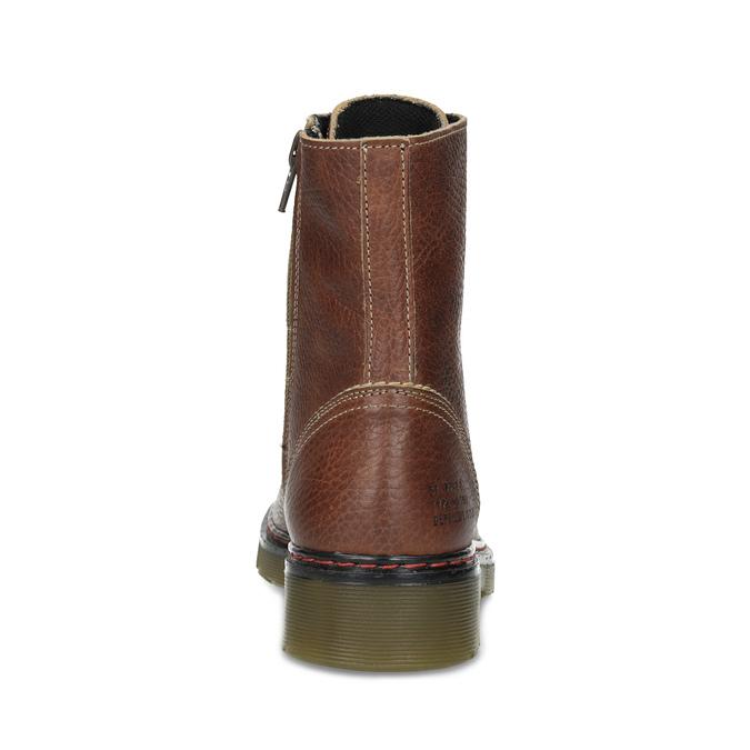 Hnědá kožená dámská kotníčková obuv bata, hnědá, 596-4732 - 15