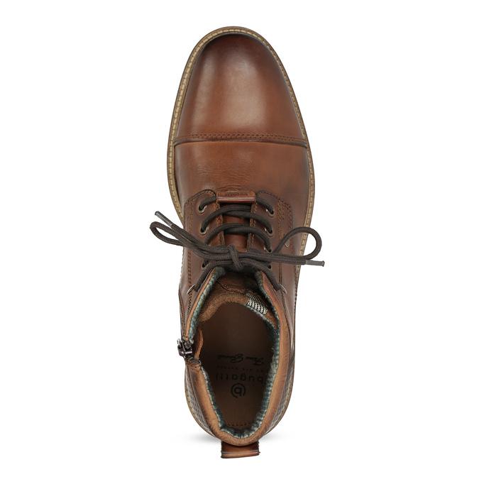 Hnědá kotníčková obuv bugatti, hnědá, 826-3080 - 17