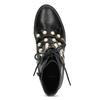 Vysoká kotníčková obuv s perličkami bata, černá, 591-6634 - 17