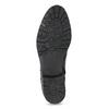Černá kožená kotníčková obuv s kovovými cvoky bata, černá, 594-6671 - 18