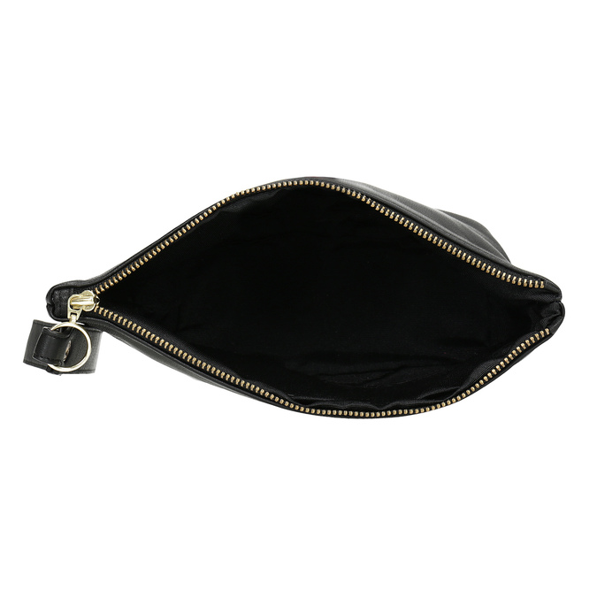 Černá kožená kabelka s páskem na zápěstí vagabond, černá, 964-6012 - 15