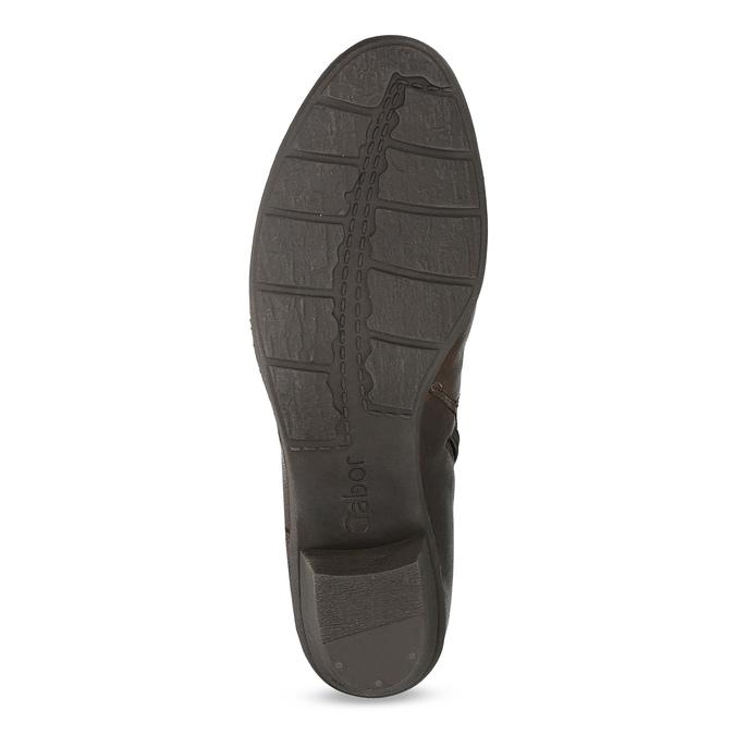 Hnědá kožená obuv s prošitím gabor, hnědá, 616-4123 - 18
