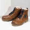 Chlapecká kotníčková obuv s kožíškem mini-b, hnědá, 414-3603 - 16