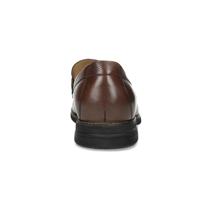 Kožené Penny Loafers mokasíny hnědé comfit, hnědá, 814-3627 - 15