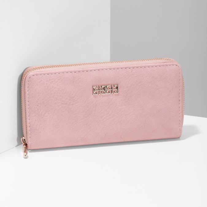 růžová dámská peněženka bata, růžová, 941-0180 - 17