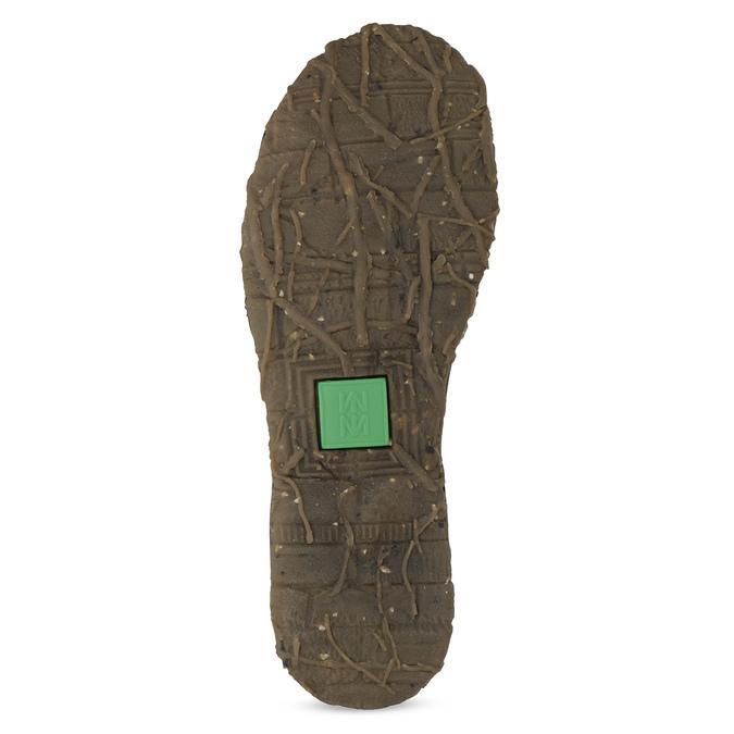 Dámská kožená kotníčková obuv tmavě hnědá el-naturalista, hnědá, 626-4088 - 18