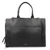 Černá kožená kabelka vhodná na dokumenty royal-republiq, černá, 964-6092 - 26
