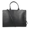 Černá kožená kabelka vhodná na dokumenty royal-republiq, černá, 964-6092 - 16