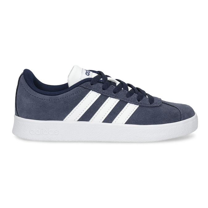 Dětské tenisky z broušené kůže šedé adidas, modrá, 303-9212 - 19