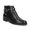 Kožená kotníčková obuv s kovovými cvoky bata, černá, 594-6668 - 13