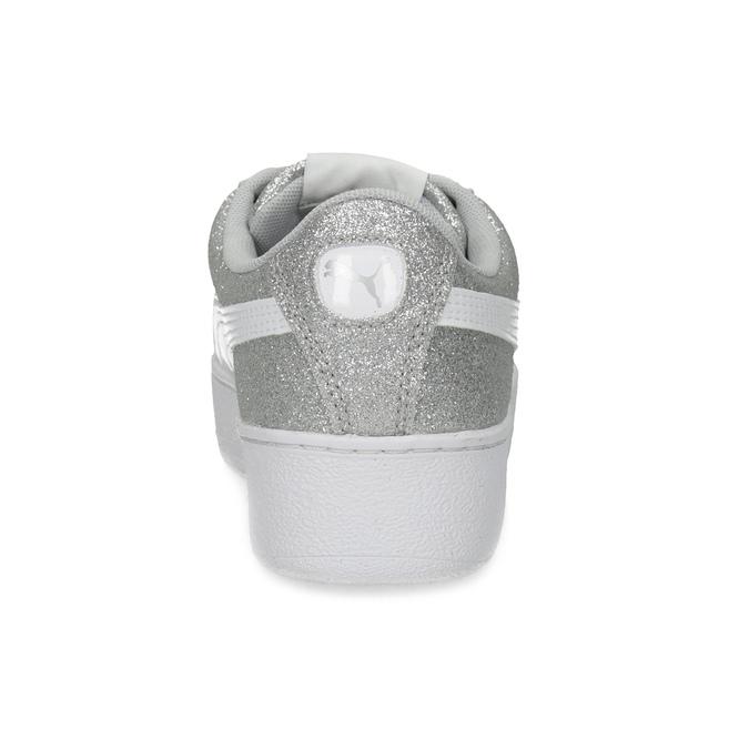 Dětské třpytivé tenisky na flatformě puma, stříbrná, 401-2392 - 15