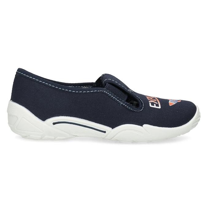 Dětská domácí obuv s motivem rakety mini-b, modrá, 379-9219 - 19